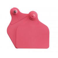 Boucles de marquage Ukal Flex maxi+maxi nue rouge x20