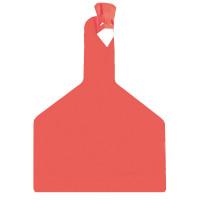 Boucle une pièce ZTAG BOVIN rouge x30