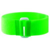 Bracelets auto-agrippants fluo avec passant vert
