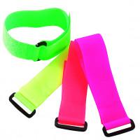 Bracelets auto-agrippants fluo avec passant