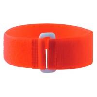 Bracelets auto-agrippants fluo avec passant orange