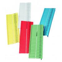 Boucles de marquage Ukal-tag vert marquage de 1-100 x100