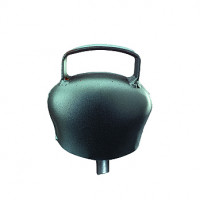 Cloche en acier bombé Black-Blue
