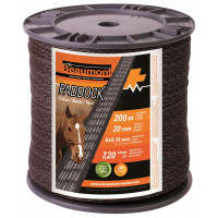 Ruban marron 20 mm / 200 m PADDOCK