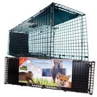 Piège cage pliante 2 portes 100 x 30 x 30 cm