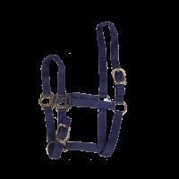 Licol nylon 22 mm réglable cheval bleu
