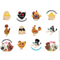 Stickers volailles CHICK'A