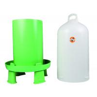 Abreuvoir double cylindre avec pieds Ligne Verte 12L
