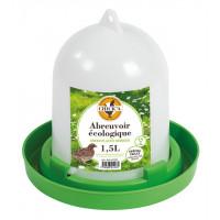 Abreuvoir plastique ligne verte pour caille 1.5L
