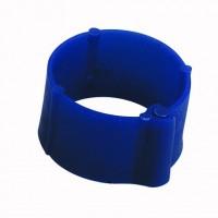 Bague à clips pour volailles 8 mm bleu