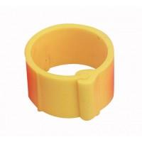 Bague à clips pour volailles 8 mm jaune