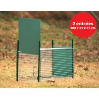 Boîte à fauve avec porte à glissière, 2 entrées, 103 x 31 x 31 cm BOXTRAP
