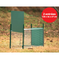 Boîte à fauve avec porte glissière, 2 entrées, 130 x 36 x 47 cm BOXTRAP