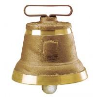 Cloche ronde en fonte de laiton n° 8
