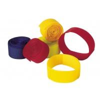 Bracelets auto agrippants pour bovins rouge x5