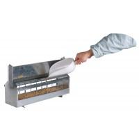 Mangeoire à toit à rouleau tournant en acier galvanisé 4,2 L pour 15 poules