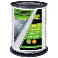 Ruban blanc et vert 40mm / 200m CLASSIC