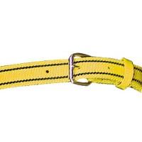 Collier en nylon double 125 x 4 cm jaune et noir