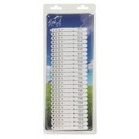Boucles de marquage Ukal-tag blanc marquage de 101 à 200 x100