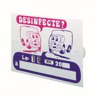 Plaque plastique ''Désinfecté le...''