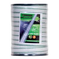 Ruban blanc et vert 20mm / 200m