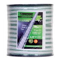Ruban blanc et vert 12mm / 200m