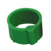 Bague à clip pour volailles 16 mm vert