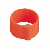 Bague à clip pour volailles 16 mm orange