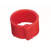 Bague à clips pour volailles 16 mm rouge x100