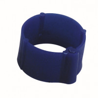 Bague à clips pour volailles 16 mm bleue x100