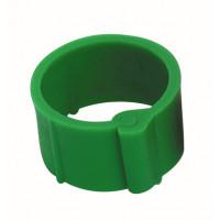 Bague à clips pour volailles 16 mm verte x100