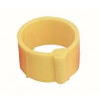 Bague à clips pour volailles 16 mm jaune x100