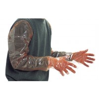 Gant polyéthylène 5 doigts 90 cm orange